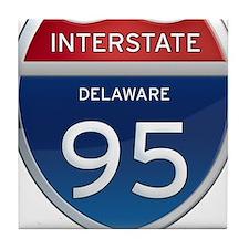 Delaware Interstate 95 Tile Coaster