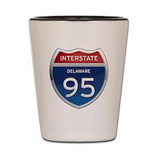 Delaware Interstate 95 Shot Glass