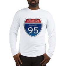 Delaware Interstate 95 Long Sleeve T-Shirt