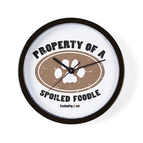 Foodle dog Wall Clock