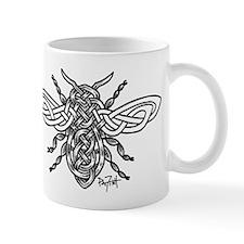 Celtic Knotwork Bee - black lines Mug
