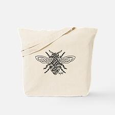 Celtic Knotwork Bee - black lines Tote Bag