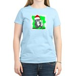 LET'S MONKEY AROUND (XMAS) LOOK Women's Pink T-Shi