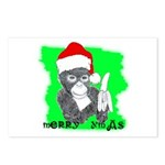 LET'S MONKEY AROUND (XMAS) LOOK Postcards (Package