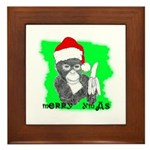 LET'S MONKEY AROUND (XMAS) LOOK Framed Tile