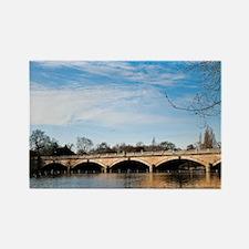 Serpentine Bridge and Lake Rectangle Magnet