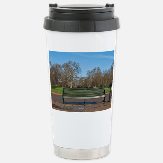 Bench in Hyde Park Stainless Steel Travel Mug