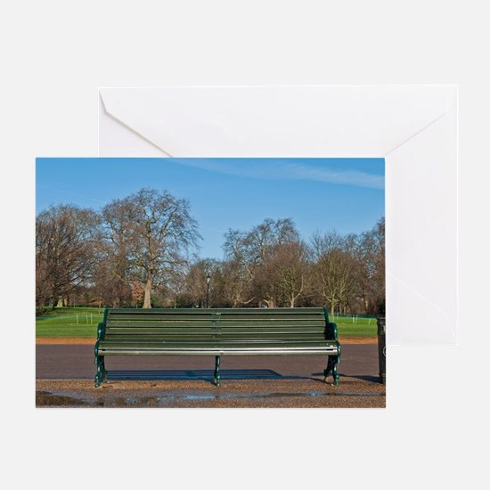 Bench in Hyde Park Greeting Card