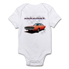 1970 Dodge Charger Red Infant Bodysuit