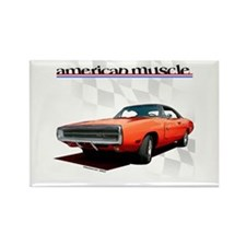 1970 Dodge Charger Red Rectangle Magnet