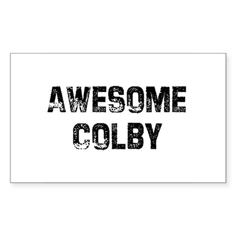Awesome Colby Rectangle Sticker