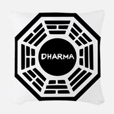 Dharma Initiaive Logo Woven Throw Pillow
