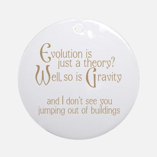 Evolutionary Theory Ornament (Round)