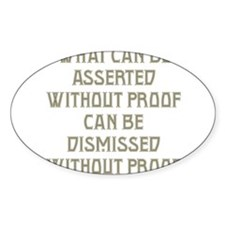 Asserted without Proof Decal
