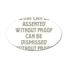 Asserted without Proof Wall Decal