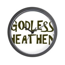 Godless Heathen Wall Clock