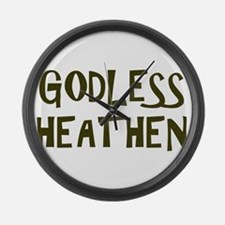 Godless Heathen Large Wall Clock