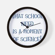 amomentofscience.png Wall Clock