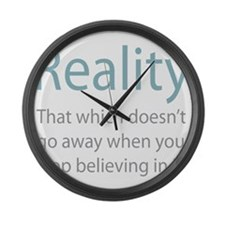 Reality Large Wall Clock