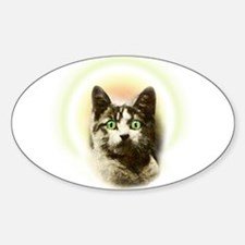 God Cat Sticker (Oval)
