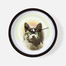 God Cat Wall Clock