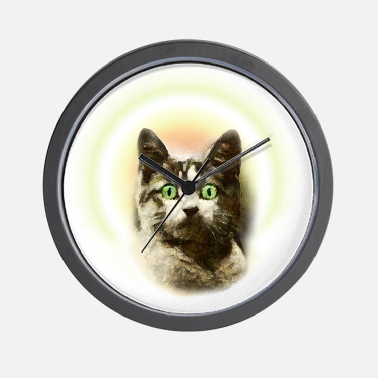 God Cat Wall Clock