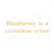 blasphemy.png Aluminum License Plate