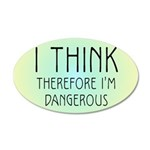 ithink2.png 35x21 Oval Wall Decal