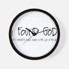 IFOUNDGOD.png Wall Clock