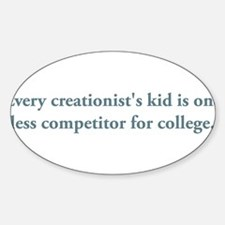 creationists kid.png Sticker (Oval)