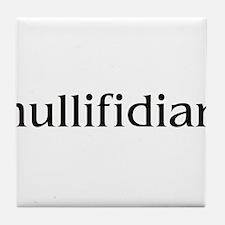 nullifidian.png Tile Coaster