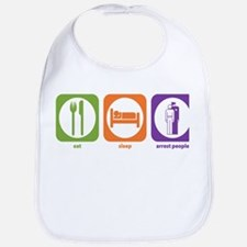 Eat Sleep Arrest Bib