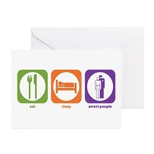 Eat Sleep Arrest Greeting Cards (Pk of 10)
