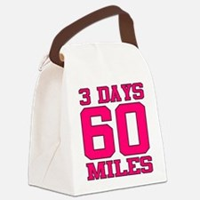 3 Days 60 Miles Canvas Lunch Bag