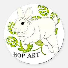 Hop Art Round Car Magnet