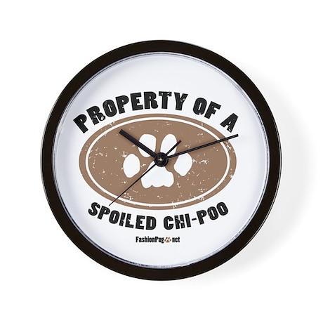 Chi-Poo dog Wall Clock