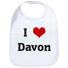 I Love Davon Bib