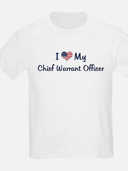 Chief Warrant Officer: Flag L Kids T-Shirt
