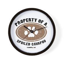 Cavapoo dog Wall Clock