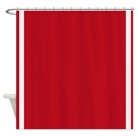 Red Shower Curtain By JJBeanstalk