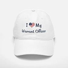 Warrant Officer: Flag Love Baseball Baseball Cap