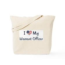Warrant Officer: Flag Love Tote Bag