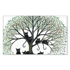 Borders Black Cats in Tree Decal