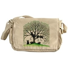 Borders Black Cats in Tree Messenger Bag