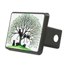 Borders Black Cats in Tree Hitch Cover
