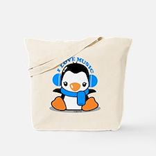I Love Music (blue) Tote Bag