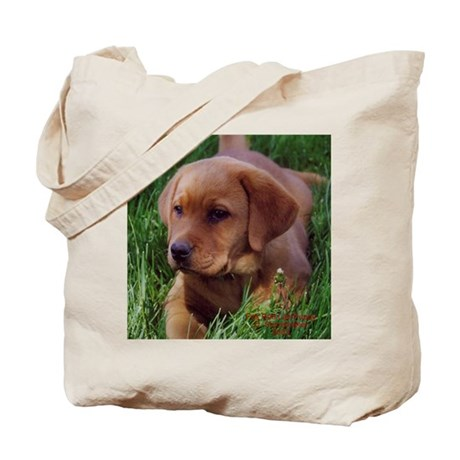 Fox Red Lab Pup Tote Bag
