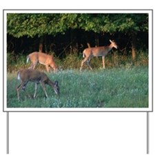 Grazing Deer Yard Sign