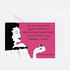 Raspberry Truffles Greeting Cards