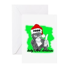 baby's first christmas Greeting Cards (Package of